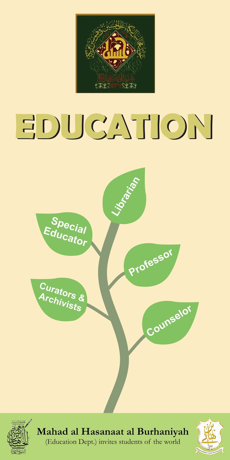 Poster design education - Poster Design Client Name Burhani Centennial Higher Education Trust