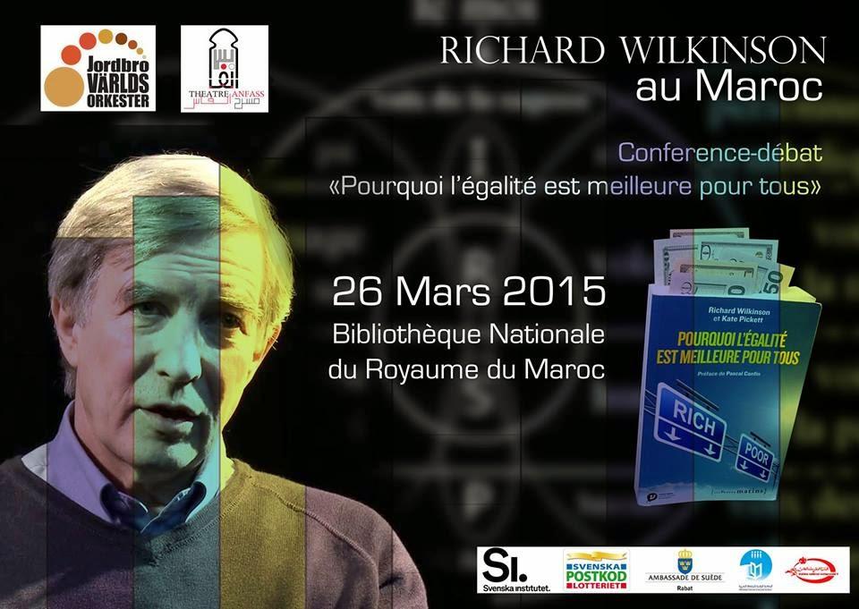 Pourquoi l'égalité est meilleure pour tous : Conférence débat avec Richard Wilkinson