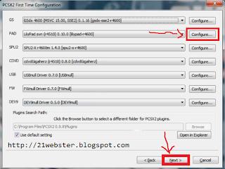 Konfigurasi PCSX2 0.9.8