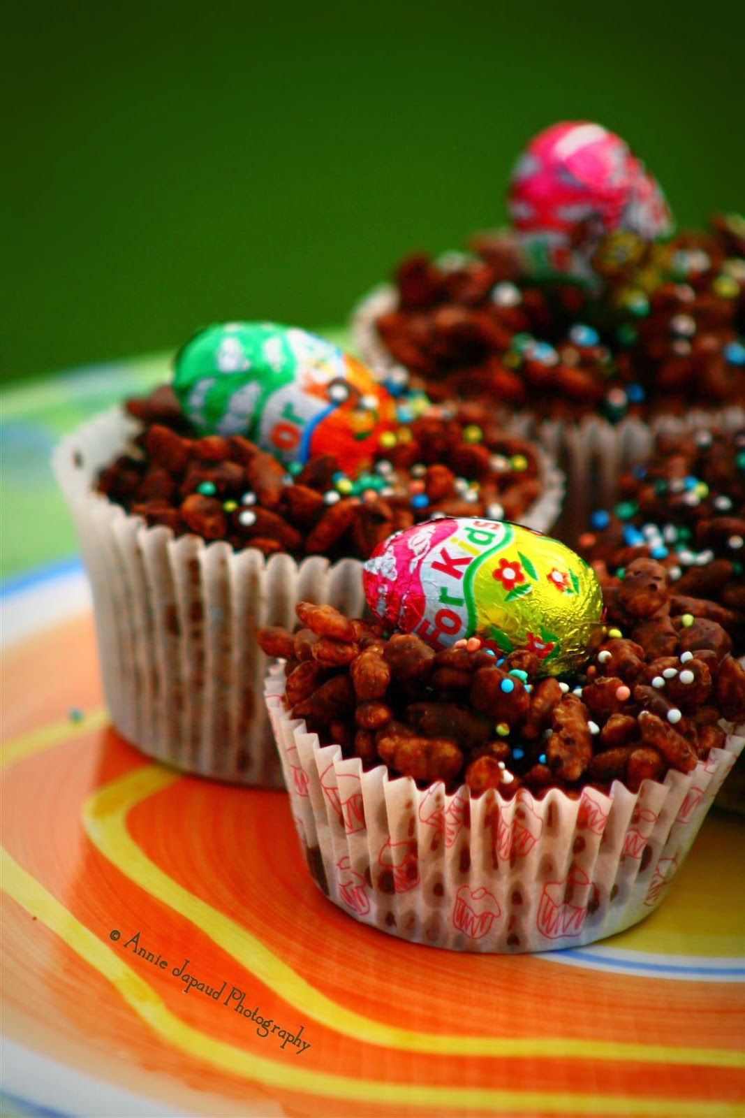 image of colourful rice crispy buns for easter