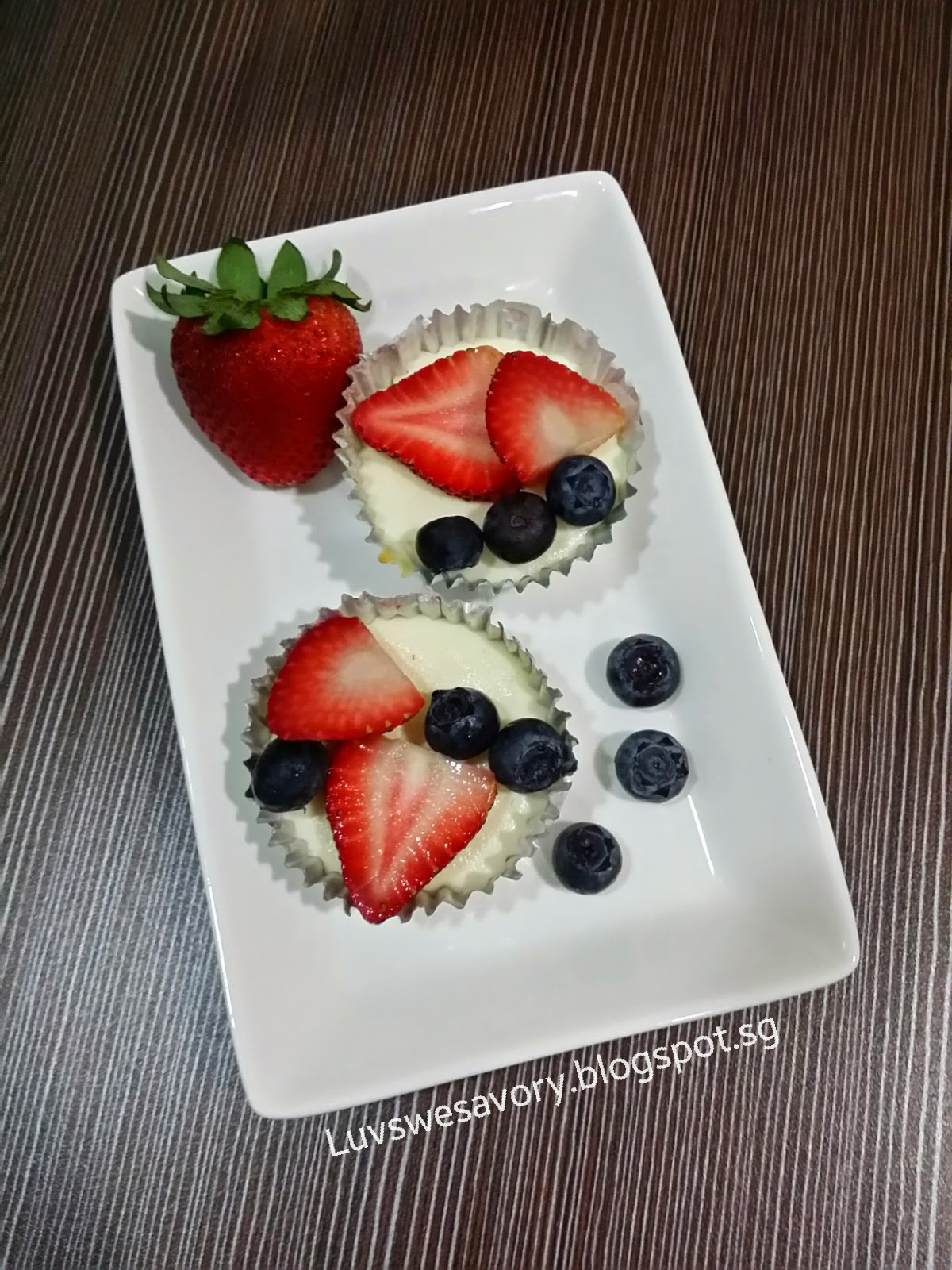 Luvswesavory: Red, White and Blueberry Cheesecake