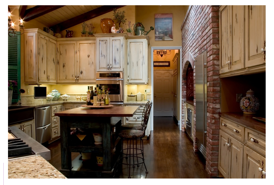 Kitchen decor french country kitchens for Kitchen designs french country
