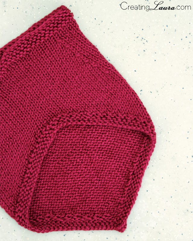 Free Knitting Patterns For Beginners Baby Blanket : Creating Laura: A Knitted Bandana Cowl