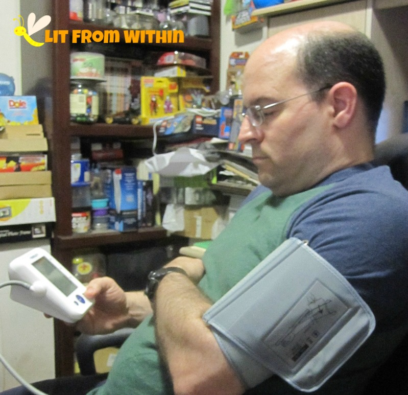 Mr. LitFromWithin using the MeasuPro Upper Arm Blood Pressure Monitor