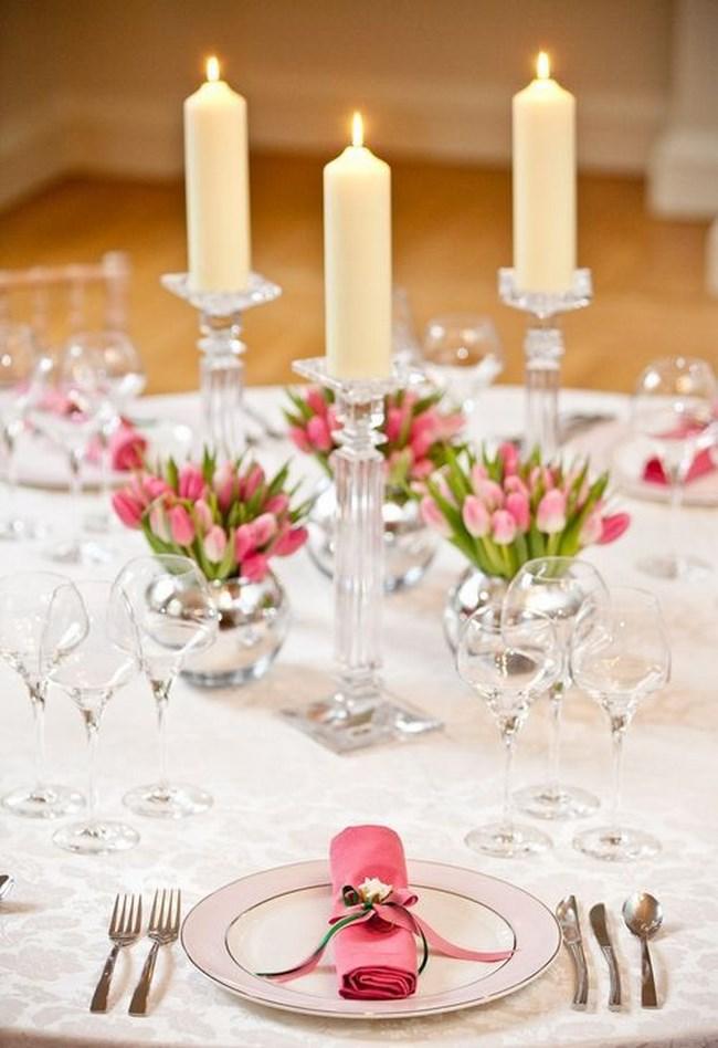 centros de mesa con velas para boda