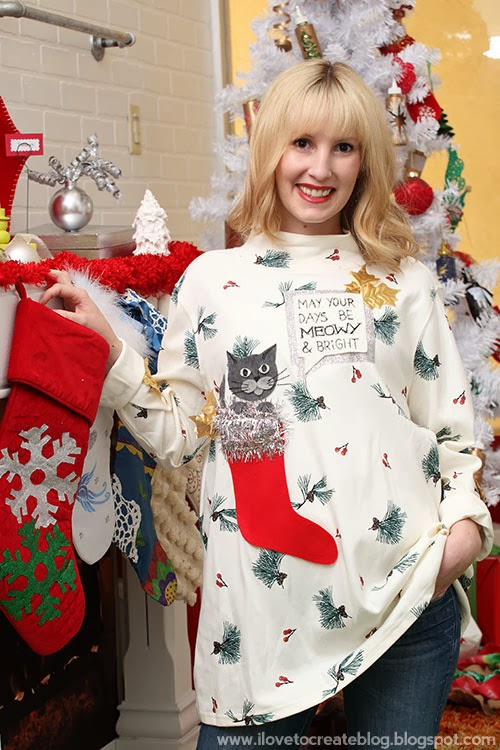 A Very Meowy Ugly Christmas Sweater Ilovetocreate
