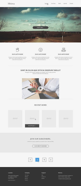 Les Ressources Web du Lundi by Iscomigoo Webdesign: Minima, template site internet