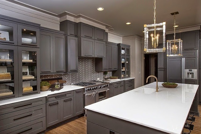 Gray kitchen designs for Kitchen ideas grey cabinets