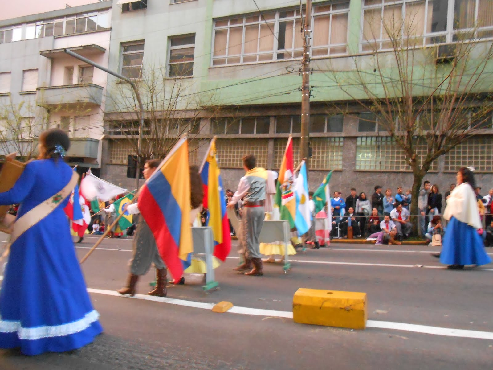 Desfile gaúcho de vinte de setembro.