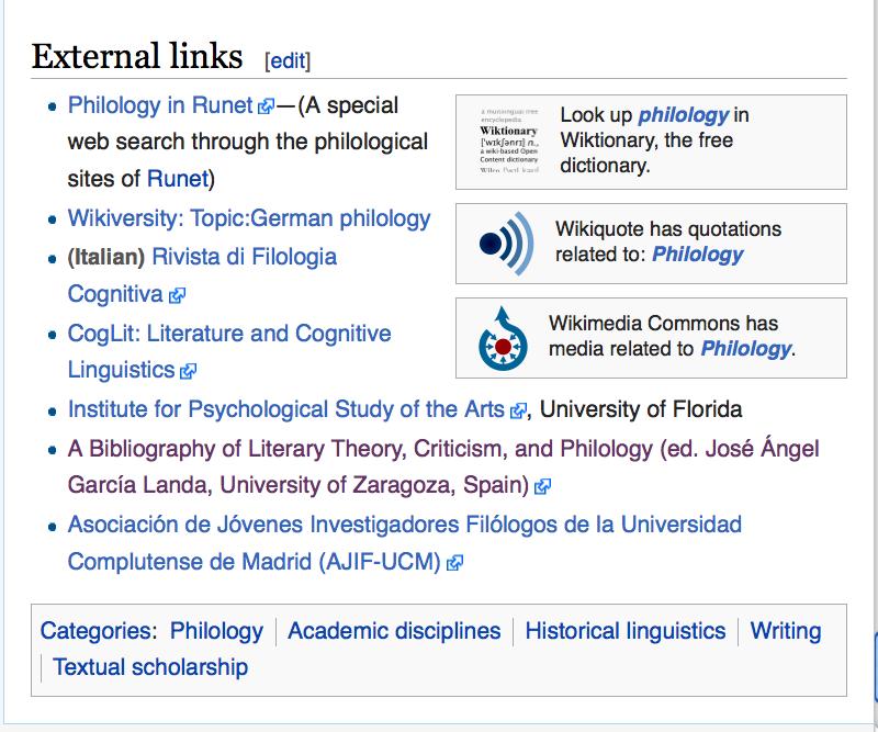 wikiphilology