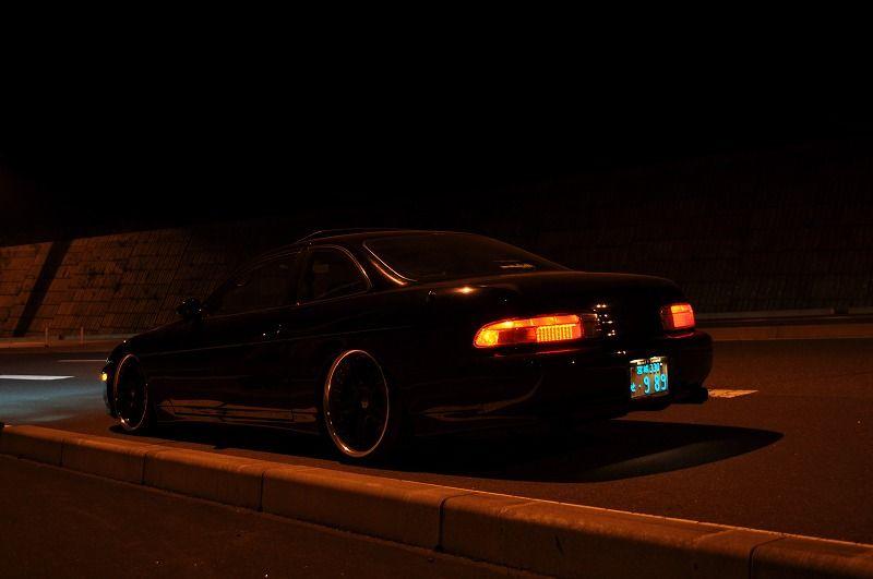 Toyota Soarer (Lexus SC) Z30 nocna fotografia
