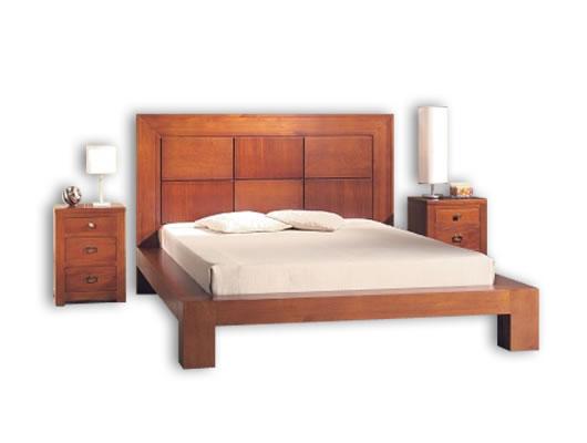 Camas de madera 2 plazas imagui for Camas king size modernas
