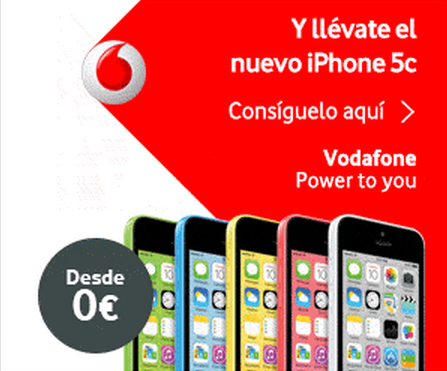 IPHONE 5c DESDE 0€ CON VODAFONE: