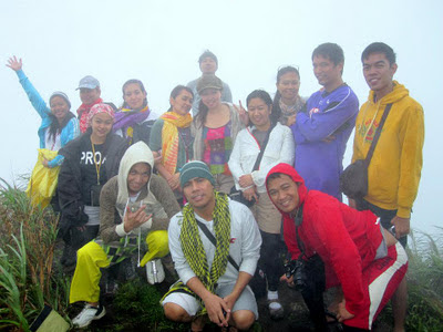 BAKAS Mountaineers at the summit of Mt. Cristobal