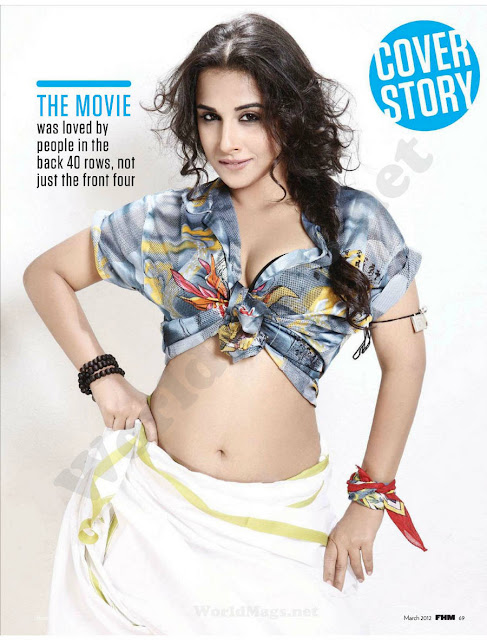 Vidya Balan hot photo shoot for FHM magazine
