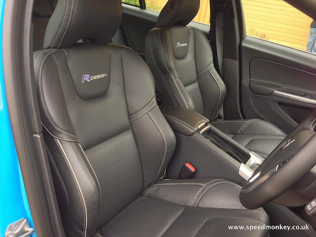 Volvo V60 D3 R-Design Lux seats