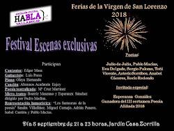 FESTIVAL CASA ZORRILLA, FERÍAS DE LA VIRGEN DE SAN LORENZO