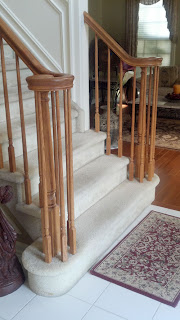 Before Carpet Removal - Staircase Makeover - Stair Tread Replacement - New Jersey NJ