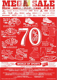 World of Sports Mega Sale