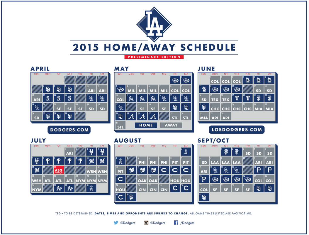 It is an image of Clever Dodgers Printable Schedule