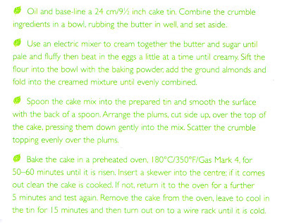 plum crumble cake method