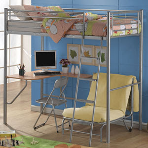 Metal Bunk Bed With Desk