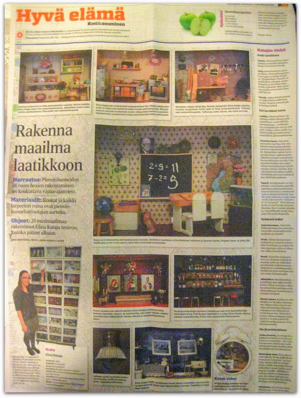 Mineilyt AlmaMedian lehdissä marraskuussa 2013