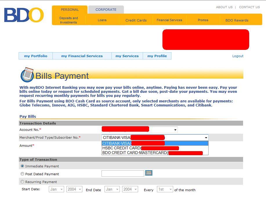 visa bill pay