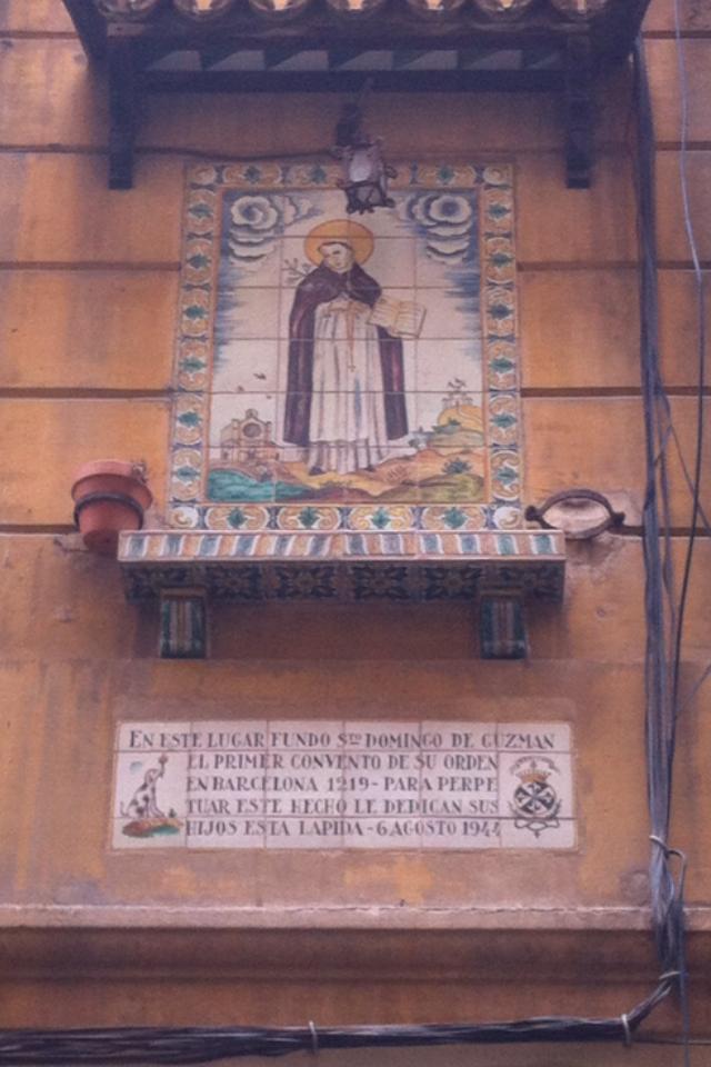 placas barcelona mundobarcino call santo domingo de guzman monasterios