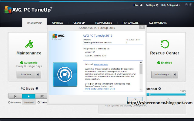 AVG PC Tuneup 2015 Terbaru v15.0.1001.518 Full Keygen Serial