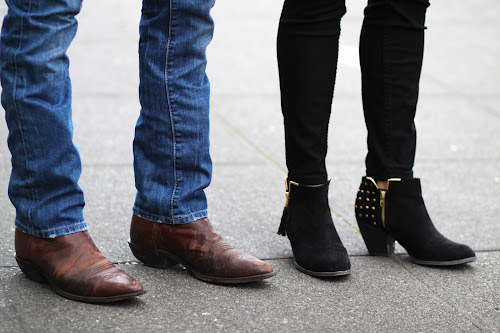 city cowboy boots studded ankle boots seattle street style fashion it's my darlin'
