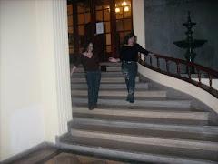 Antes de entrar al recital, en el Club Unión.
