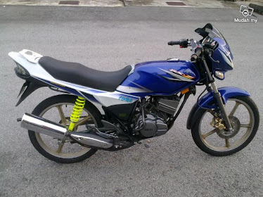 Yamaha rxz biru putih