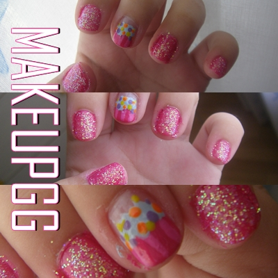 Makeupgg dise o de u as pastel y purpurina for Disenos de unas 2012