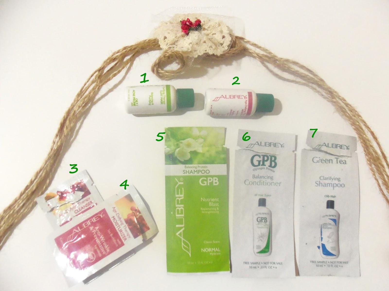 aubrey organics shampoo mask  cream tester