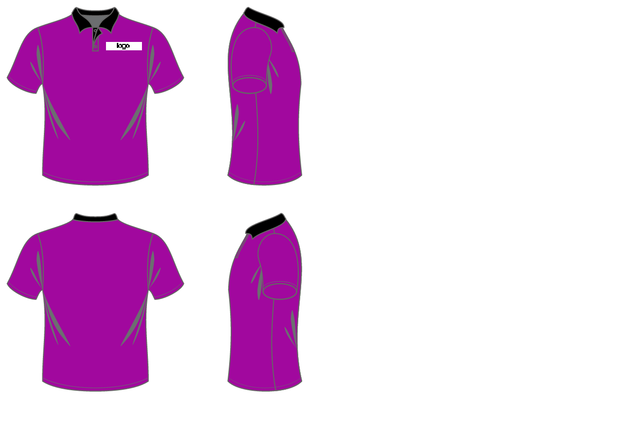 Shirt design cost - Purple Color Polo T Shirt Design Size Xs S M L Xl Xxl Xxl Custom Made With Combination Color Black Color Collar Purple Body Color Embroidery Cost Will