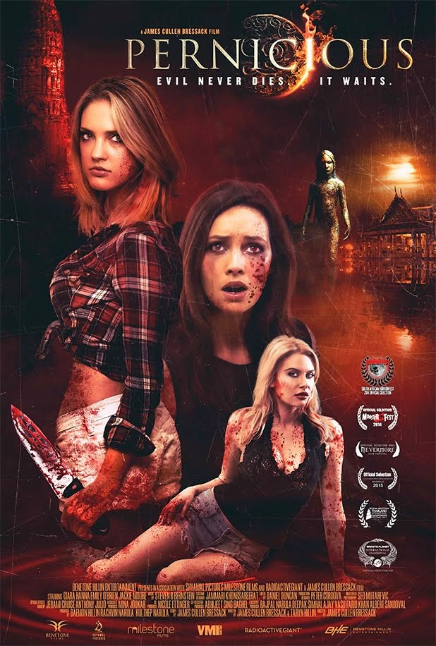 "James Cullen Bressack's upcoming shocker ""PERNICIOUS"" - In Theatres and on VOD June 19"