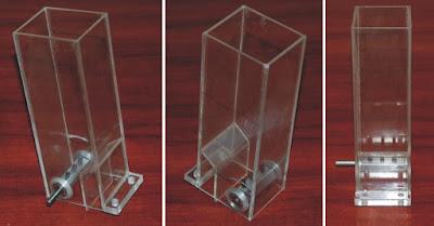 pojemnik z plexi na tytoń (wkład do maszyny)