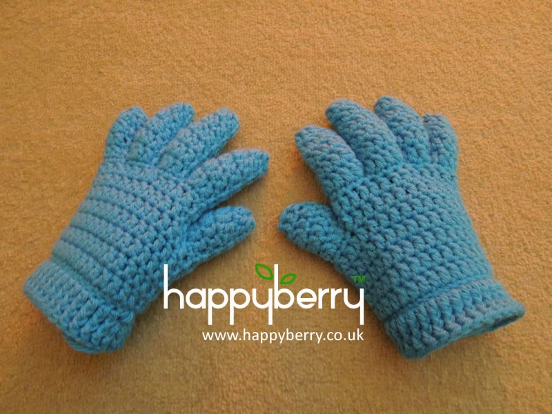 Happy Berry Crochet Crochet Finger And Fingerlesshalf Finger Glove