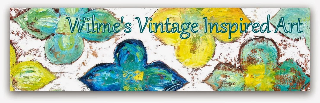 Wilme's Vintage inspired beach art blog
