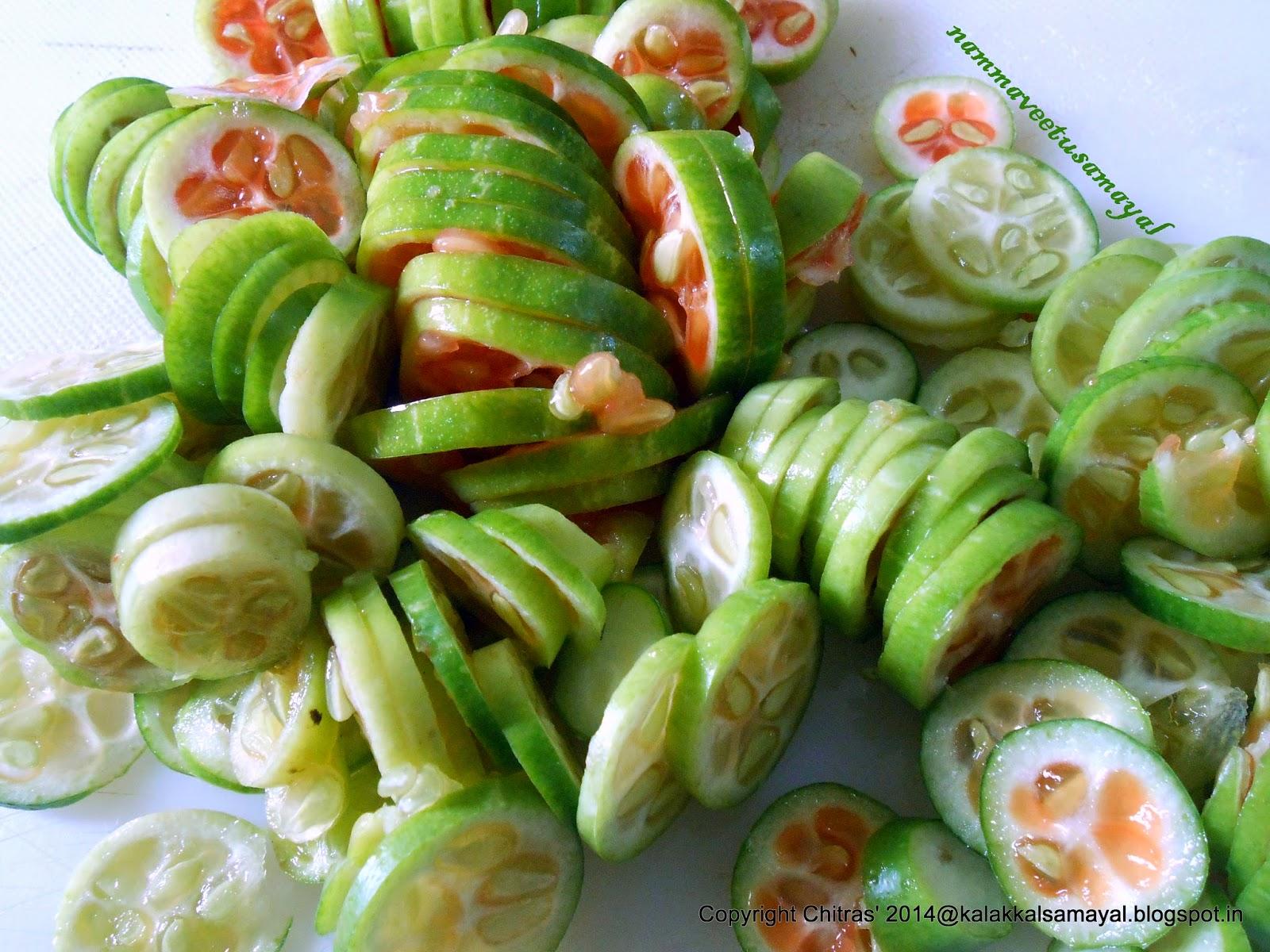 sliced kovaikkai