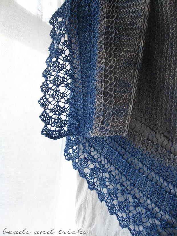 Scialle Costabella a maglia fatto a mano