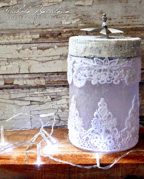 Upcycled Jar Yule Luminary - Nichola Battilana
