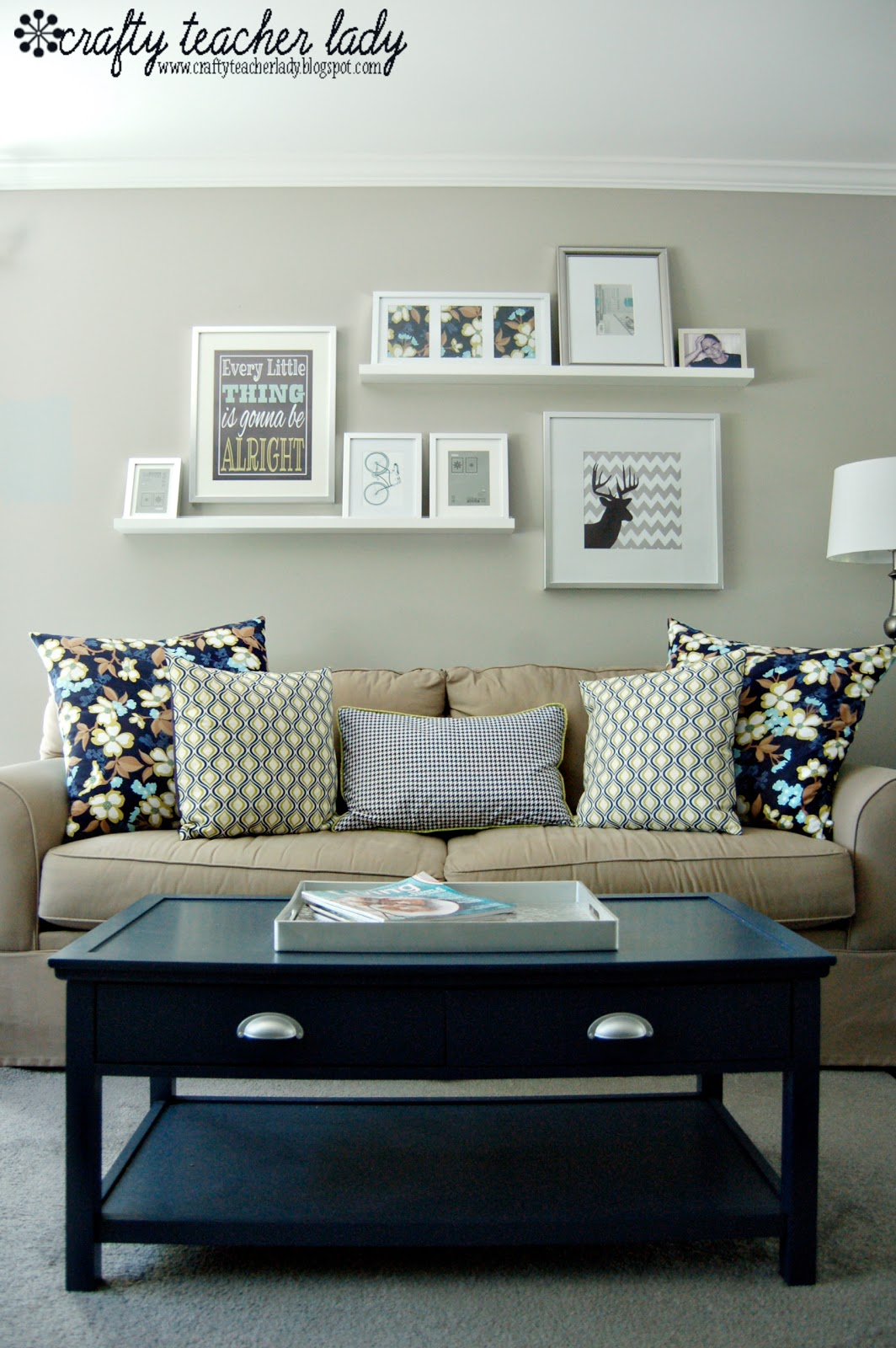 Wall Decor For Over Couch : Crafty teacher lady coffee table makeover