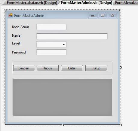Membuat Form Admin Aplikasi Penggajian