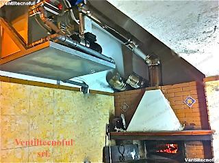 fuliggine zero con l'ausilio di un impianto di abbattimento fumi e fuliggine grassi