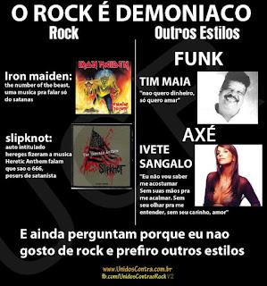 funk x rock - Iron Maiden, Slipknot, Tim Maia (funk) e Ivete Sangalo (axé)