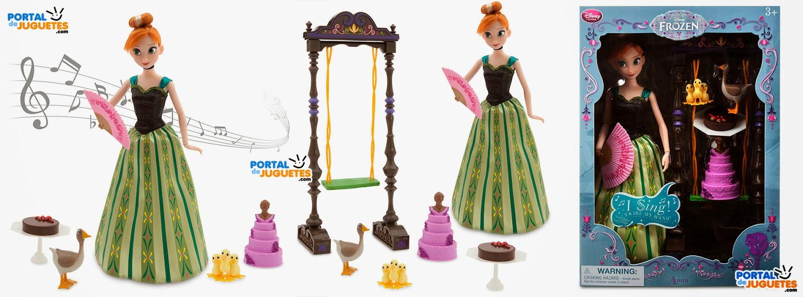 muñeca anna cantarina edicion deluxe frozen disney store