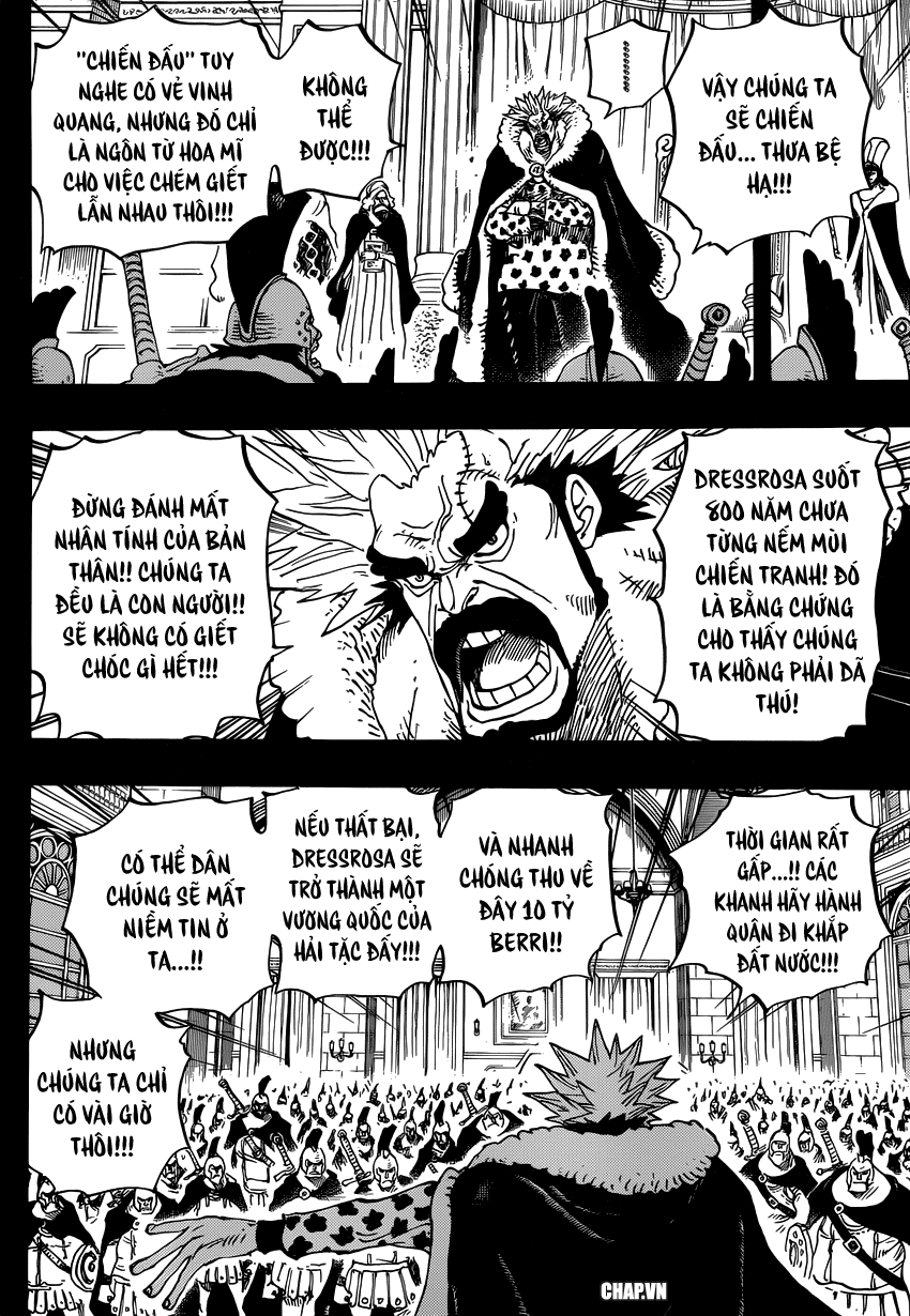 """One Piece Chapter 727: """"Anh hùng"""" mai phục 008"""