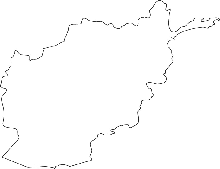 Map and National Flag of Afghanistan